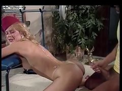Nina Hartley and Peter North classic cumshot