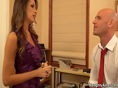 Randy America big titted secretary Kortney Kane bangs boss