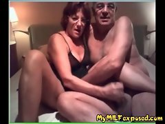 Elder amateur couple home video - My Granny Exposed