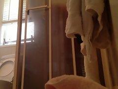 Peeping on momma showering with door open