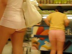 microvestido no supermercado