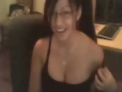 Tempting asian webcam hussy with large melons