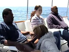 unbelievable interracial on a boat