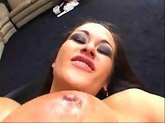 Big titted slutty girl spreads all