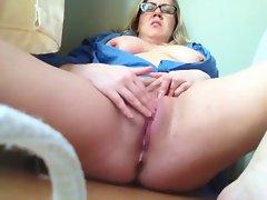 Alluring cute bbw on webcam