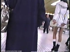 Miniskirt Subway Station Pursuit Panties