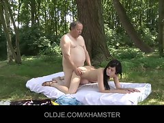 Obese oldman gets a fuck from randy young