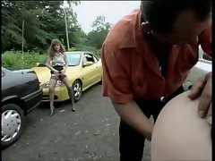 Swinger party in public parking place (2)