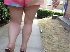 Mules and shorts