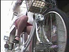 Running Bicycle Panties Exposure