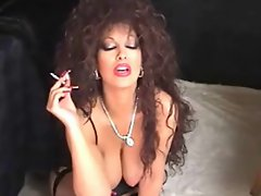 Classic Big titted Puma Smoking and Toying