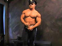 Muscular Cop Bodybuilder Solo