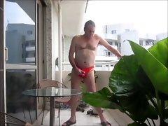 Wanking in my sexual underwear