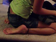 Feet raunchy teen lass