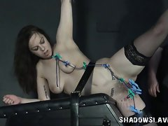 Punished Amateur Slutty girl In The Dungeon
