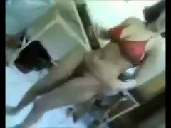 arab hijab young lady dance in bikini