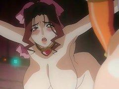 Top heavy anime licks a shemale pecker