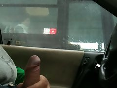 Flashing in car through the bus window 2