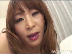 Cock dreaming Hikaru Wakabayashi on her knees fellatio shaft