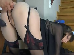 3 Episodes with Sensual Housewifes Banged in stairs