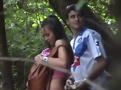 COUPLE CAUGHT IN THE WOODS!!!!
