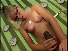 Nerd Luscious teen Gives a BBc a Handjob To Remember
