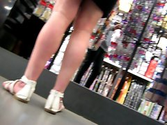 attractive mature upskirt in store