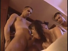 Lewd Bisexual Crazy threesome action