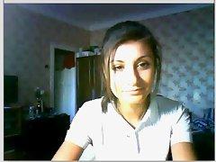 Pretty sensual russian babe on webcam
