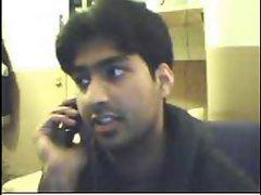 Pakistani hijab Chap Azim Attari showing on cam