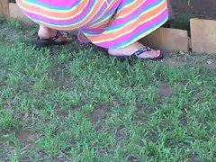 feet in the garden