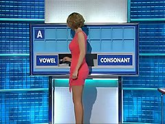 Rachel Riley Pinkish Mini Dress & Stilettos Boing !