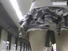 Voyeur Camera School Randy chicks Upskirt Panties