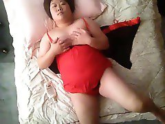 Chubby China Girl in Red