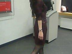 Sexy girl walking in Platform Heels