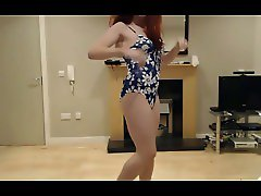 Crossdresser Cute Retro Style Swimsuit