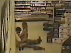 Amateur couple fuck on supermarket