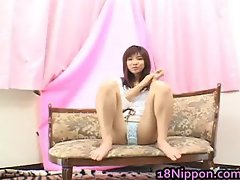 Teen Japanese Babe Masturbates And Burns part1