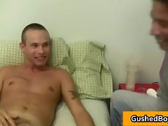 Gay clip of Cory gets his hard dick part4
