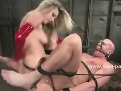 Strong big man used like a dirty toy submits in bondage female do