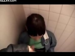 cute cleaner gives geek blowjob in lavatory 02