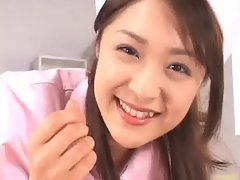 Asian nurse sucks hot cock part6