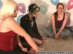 Girls kissing at truth or dare sexgame