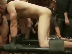Cocks delighted in gay orgy with tight sex slave asses and nasty