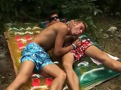Dude gets outdoor fucking and sucking part2
