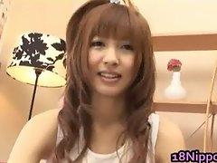 Stluuty and hairy Japanese schoolgirl part1