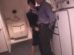 Japanese Stewardess Handjob - Part 2