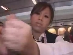 Japanese Stewardess Handjob - Part 3