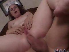 Shannon spreads open her legs