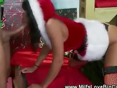 A naughty gift for miss santa